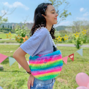 Babydoll pearly shoulder bag - neon rainbow - JCC