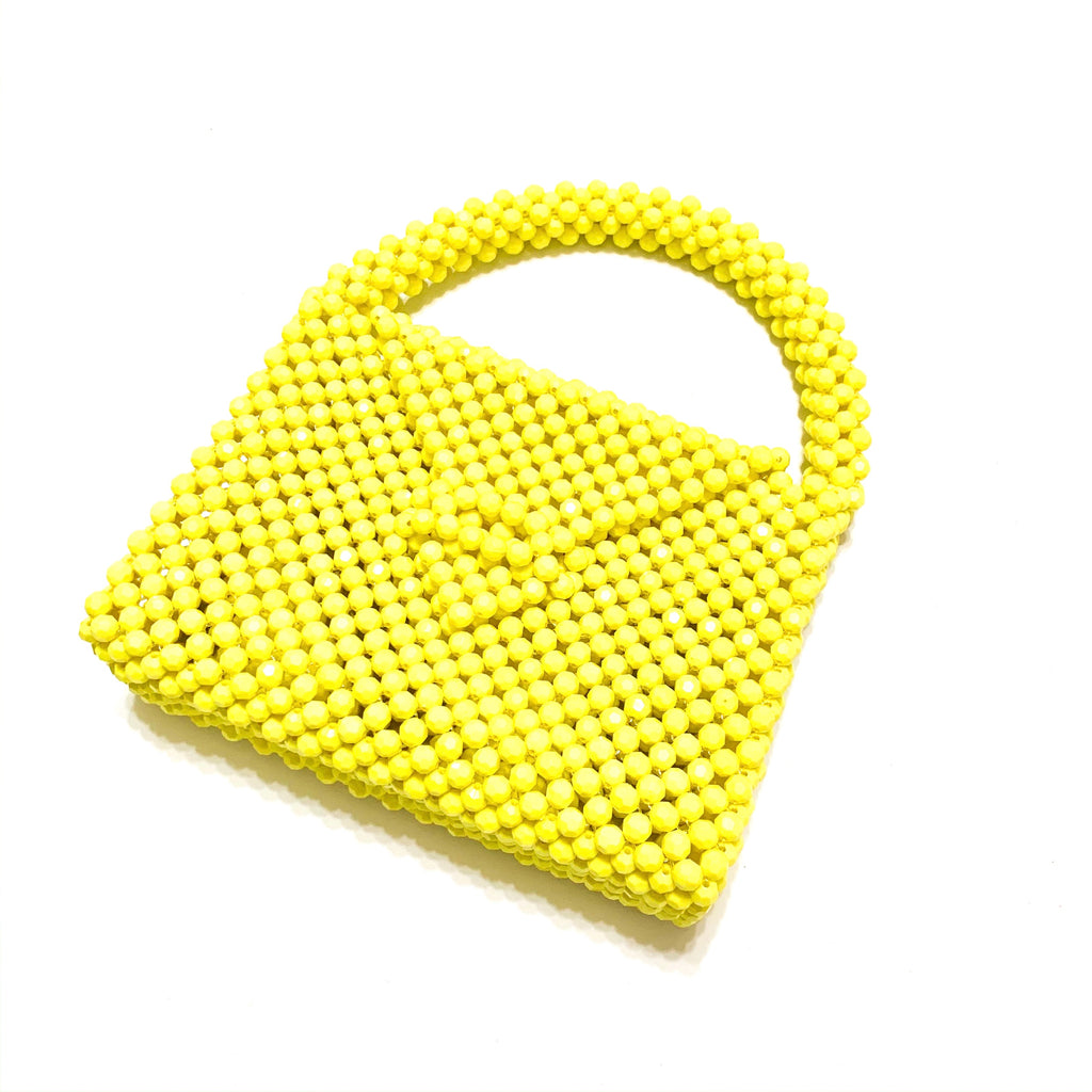 Party ready beaded bag - yellow - JCC