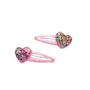 In love hair clip - pink - JCC