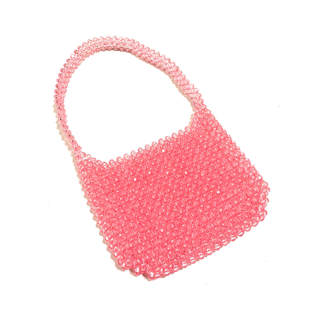90's cutie beaded shoulder bag-pink - JCC