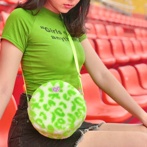 Neon for life crossbody bag - green
