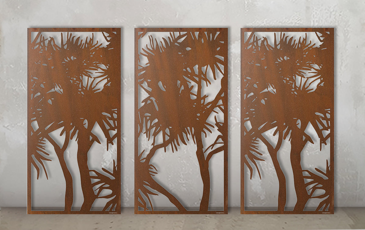 Pandanus Screen Triptych