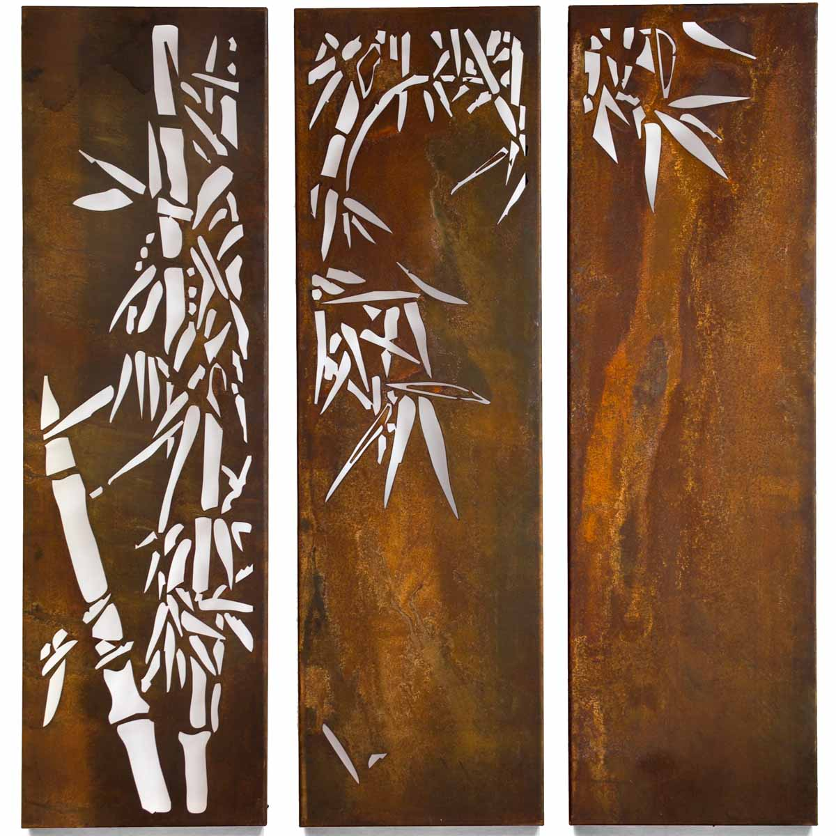 Bamboo Triptych Panel