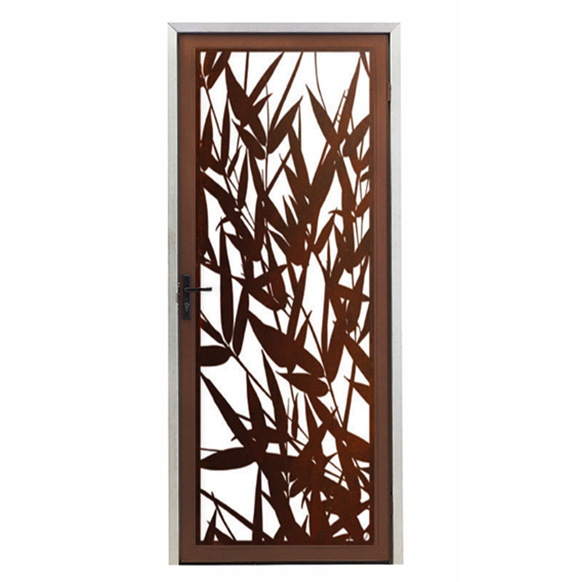 Bamboo Leaves Screen Door