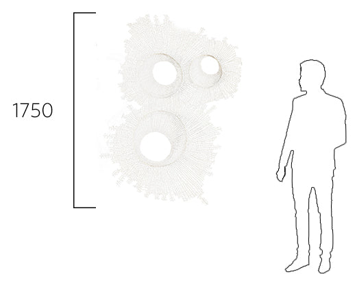Wall art size comparison diagram