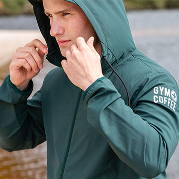 Men's Green Summit Shell Jacket by Gym+Coffee