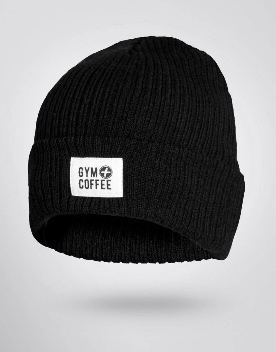 Gym Plus Coffee Beanie Jet Black Beanie Designed in Ireland