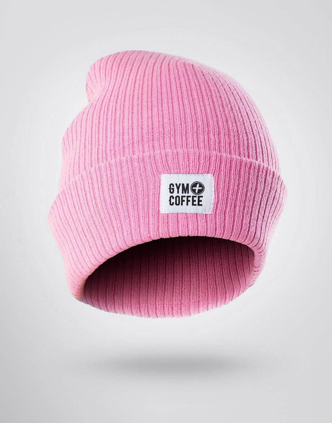 Gym Plus Coffee Beanie Pink Beanie Designed in Ireland