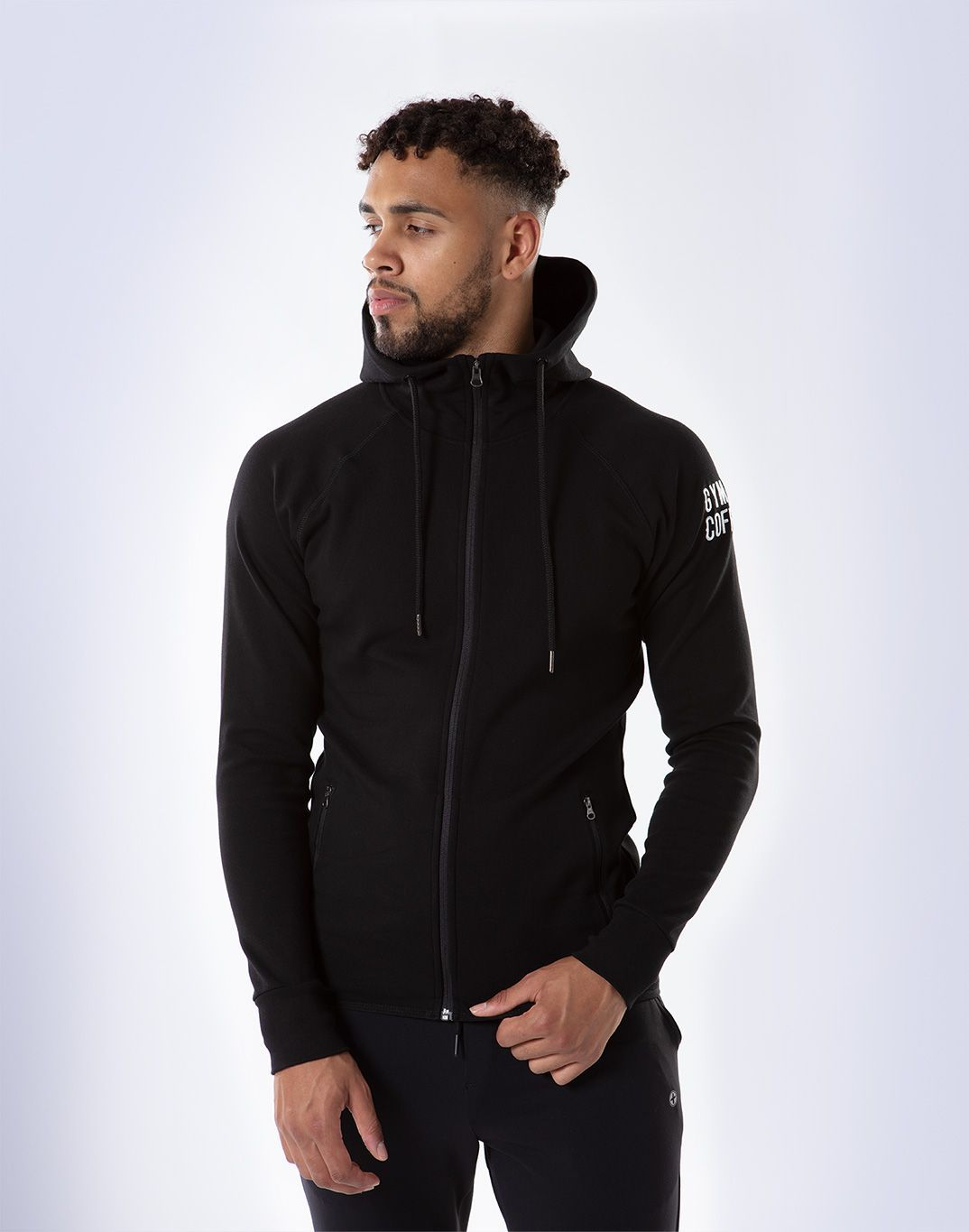 Gym Plus Coffee Hoodie Men's Chill Hoodie in Black Designed in Ireland