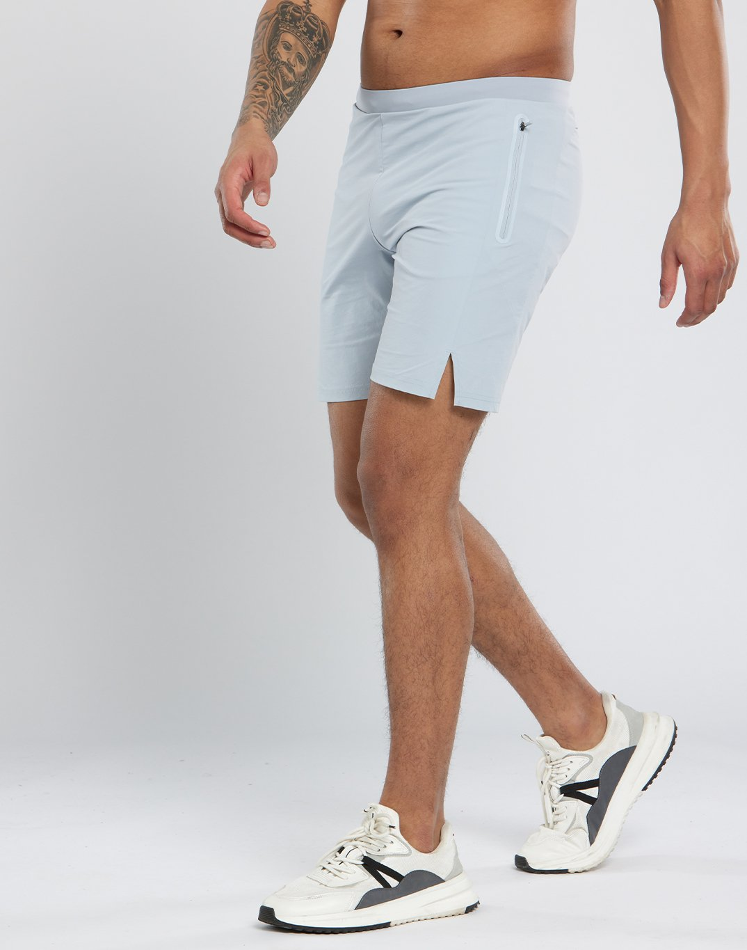 Gym Plus Coffee Shorts Mens Pace Shorts in Grey Designed in Ireland