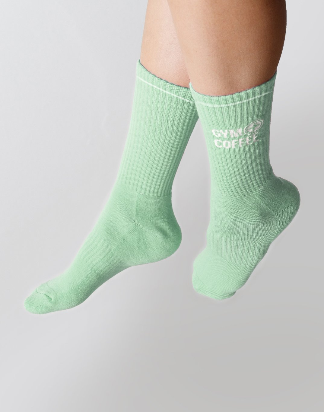 Gym Plus Coffee Socks Sport Socks in Pale Green Designed in Ireland