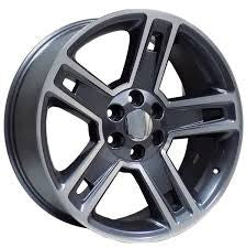 "24"" TEXAS CARBON REPLICA GUN METAL 24X10 6X139.7 +30 2007 2017 TAHOE GMC SIERRA"