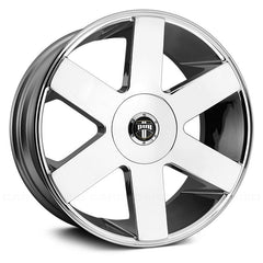 "24"" DUB BALLER SIX s232 CHROME WHEELS AND TIRES Fits CHEVY, GMC, CADILLAC and FORD"