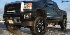 FUEL FULL BLOWN 20X12 GLOSS BLACK & MILLED $325