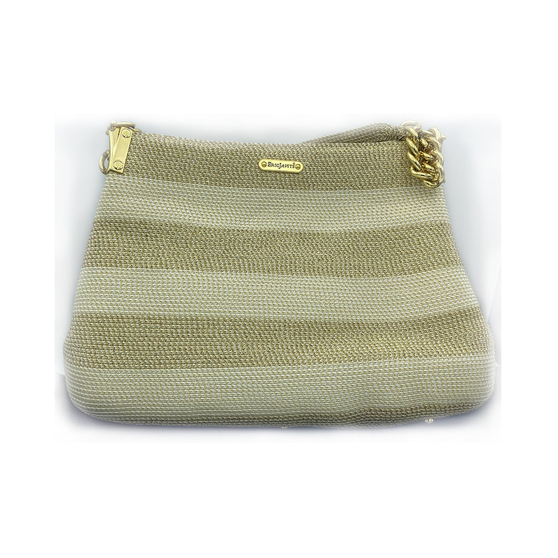 Eric Javits Straw Gold Purse