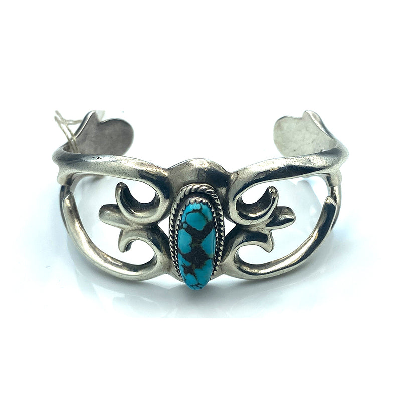 Sterling Silver Vintage Turquoise Cuff Bracelet