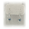JimeyeDesign Flame of Life Earrings: Blue Topaz Stone (Medium)