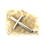 Sterling Silver Cross Shape Pendant (Chiseled)