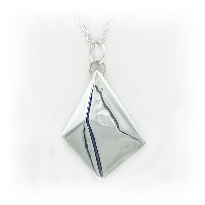 JimeyeDesign Octahedron Pendant-Large Necklace.
