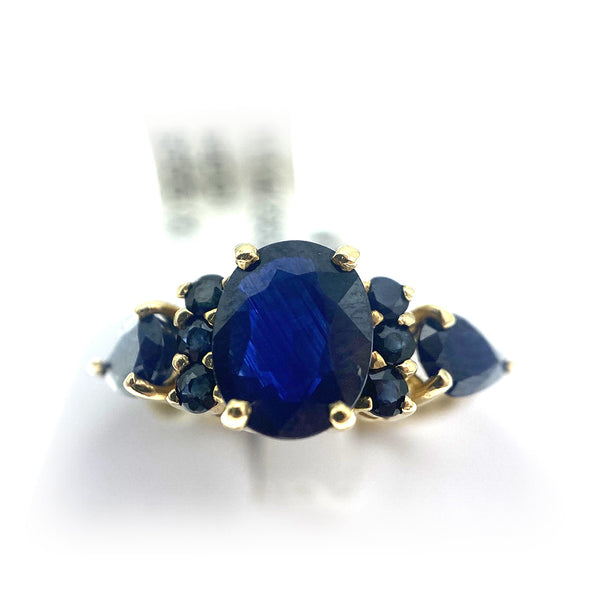 14k Vintage Sapphire Ring