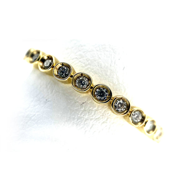 14K Eternity Diamond Band