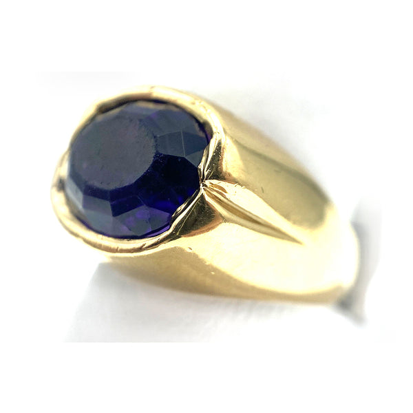 14k Oval Amethyst Ring