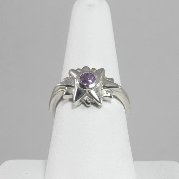 JimEyeDesigns Starburst Ring with Amethyst Stone
