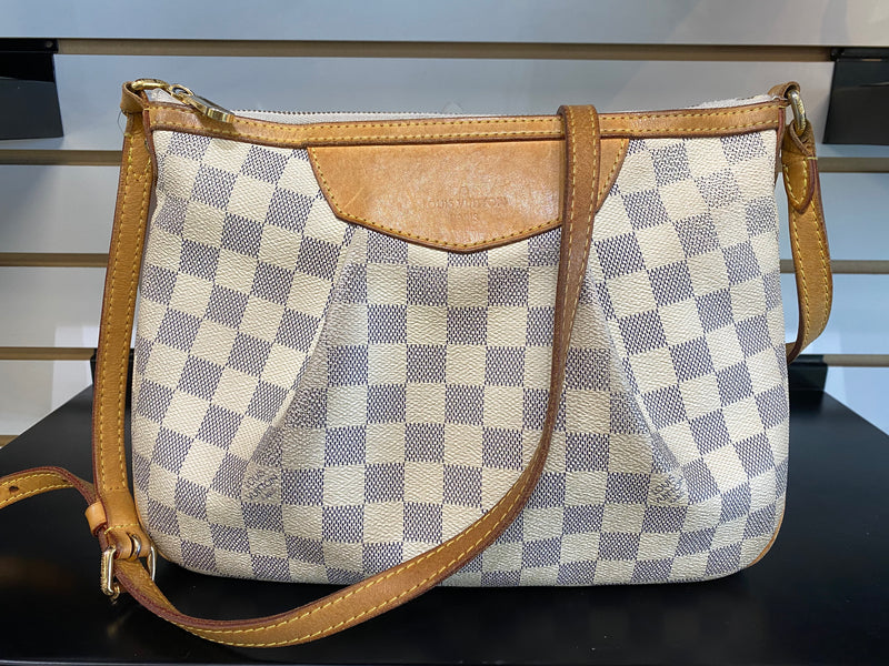 Louis Vuitton Damier Azur Siracusa Pm Handbag