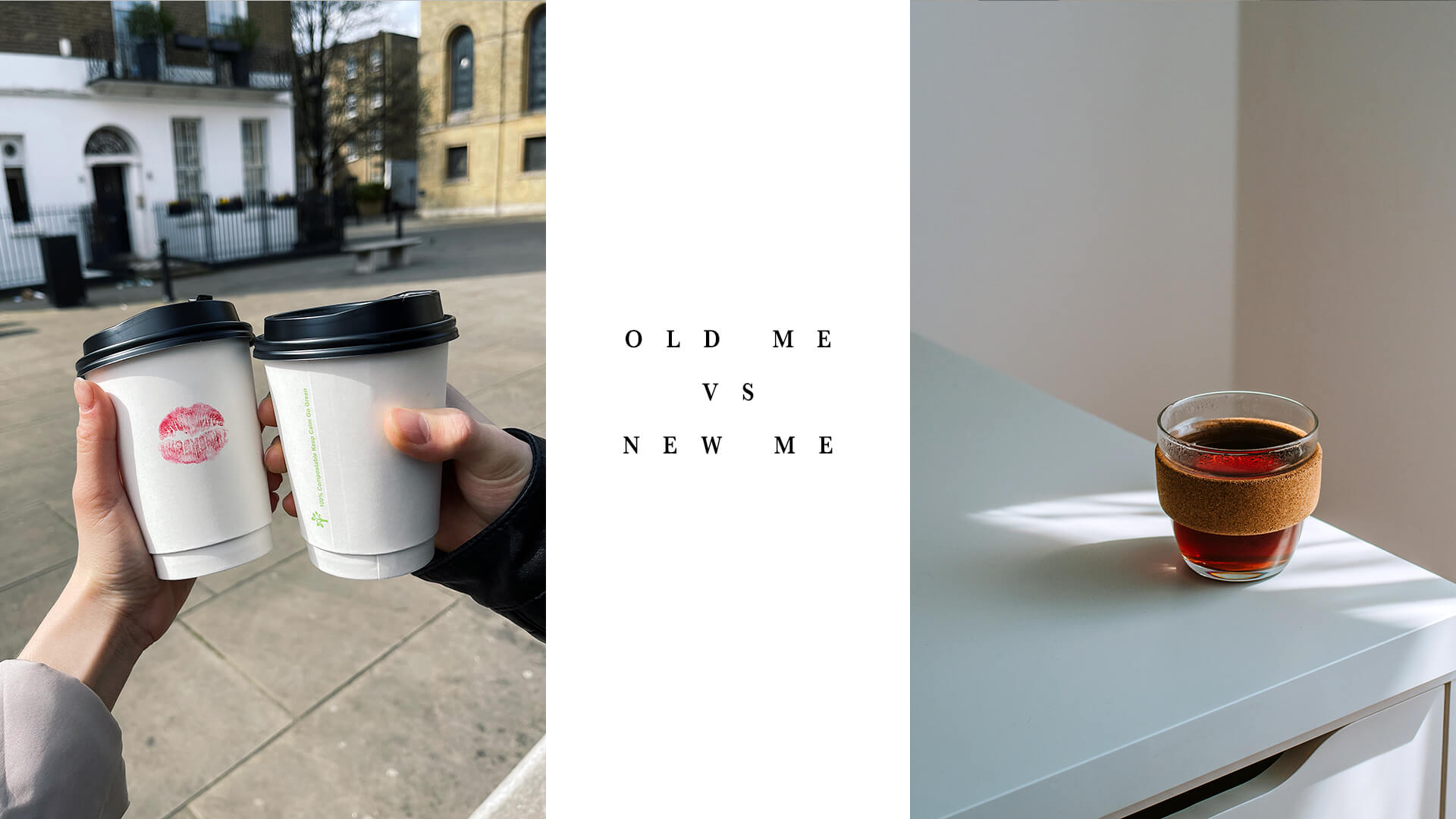 Takeaway coffee cups and reusable environmentally friendly coffee cup