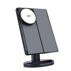 3 Folding Adjustable Mirror LED Touch Screen