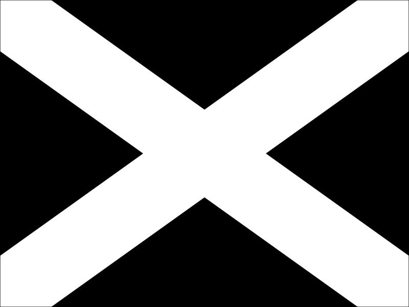 Black with White Cross Instruction Flag