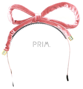 VELVET TUBE BOW HEADBAND