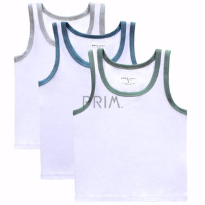 PC BOYS SLEEVELESS COLOR TRIM UNDERSHIRT