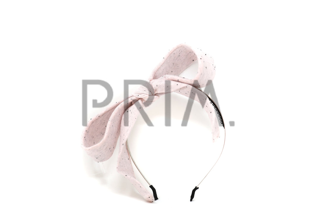 HEATHERED BOW WITH POP UP TAILS HEADBAND
