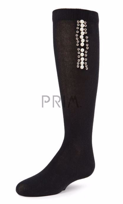 MEMOI MARCH OF PEARLS KNEE SOCK