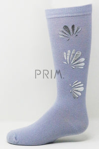 SHELL STAMP KNEE SOCK