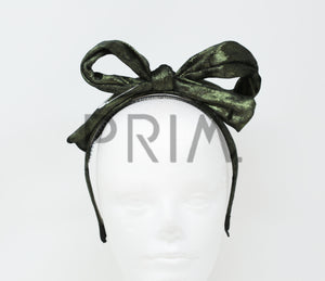 METALLIC VELVET BOW HEADBAND