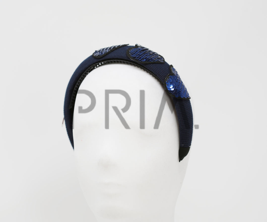 TWO WAY SEQUIN HEART PADDED HEADBAND