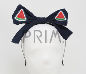 WATERMELON BOW HEADBAND