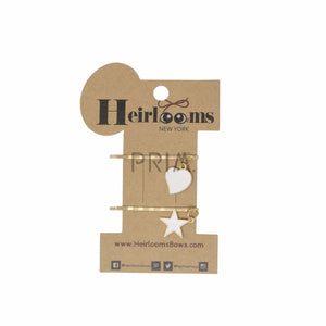HEIRLOOMS CHARMED BOBBY PIN SET OF 2