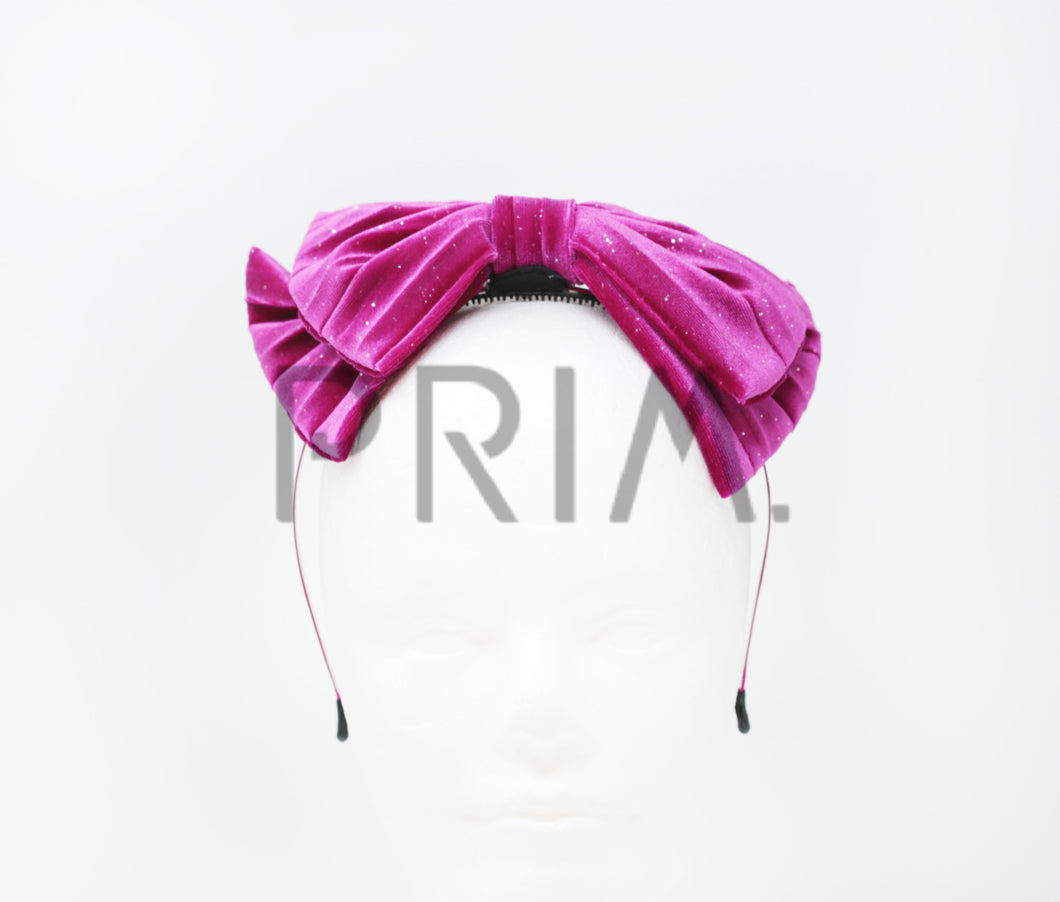 VELOUR BOW WITH SPARKLE HEADBAND