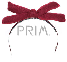 Load image into Gallery viewer, SUEDE RIBBED PUFFY BOW HEADBAND