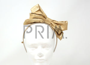 SHIMMER METALLIC DOUBLE POP UP BOW HEADBAND
