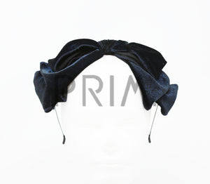 GOLD STRIPE BOW HEADBAND