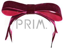 Load image into Gallery viewer, VELVET RIBBON BOW HEADBAND