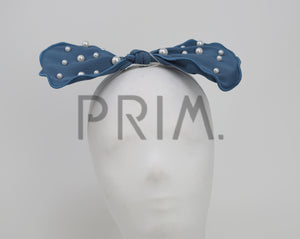 SCATTERED PEARLS BOW BABY HEADBAND