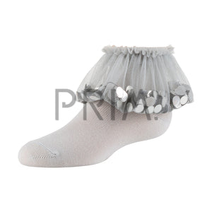 ZUBII FLYING SEQUINED TULLE ANKLET