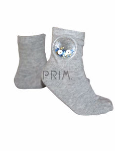 BLINQ SEQUINED STAR SMILEY SOCK