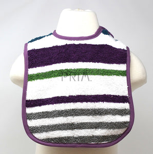 APRON STRINGS STRIPE BIB