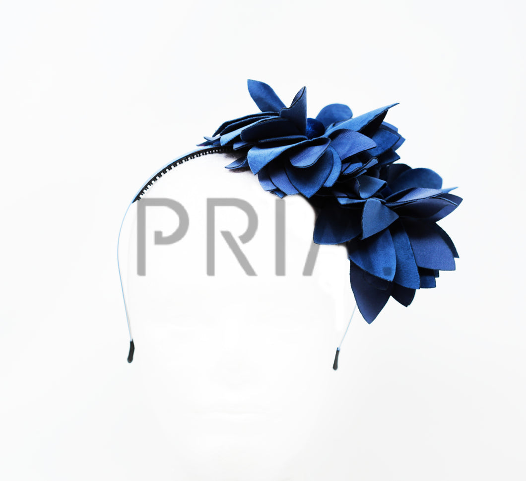 DOUBLE SIDE FLOWER WITH BUTTON HEADBAND